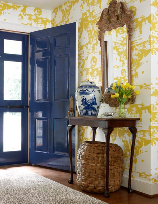 Foyer Wallpaper Designs : Desert girls vintage welcoming entryways