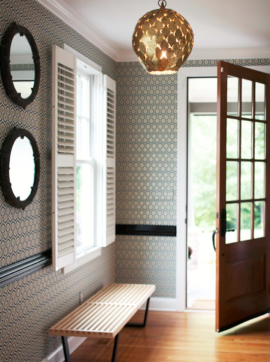 Wallpaper Small Foyer : Small entryway ideas simplified bee