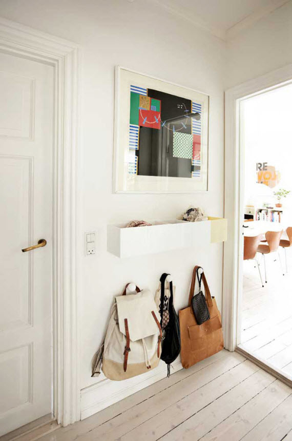 small organized entry ideas