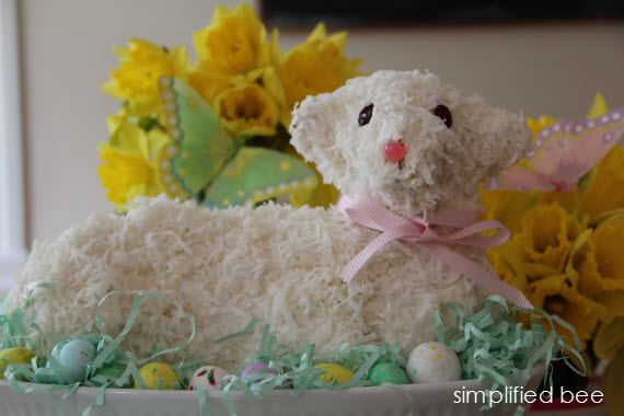 is an Easter lamb cake that my mom made a few years ago for an Easter ...