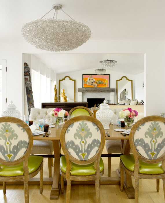 airy designer dining room