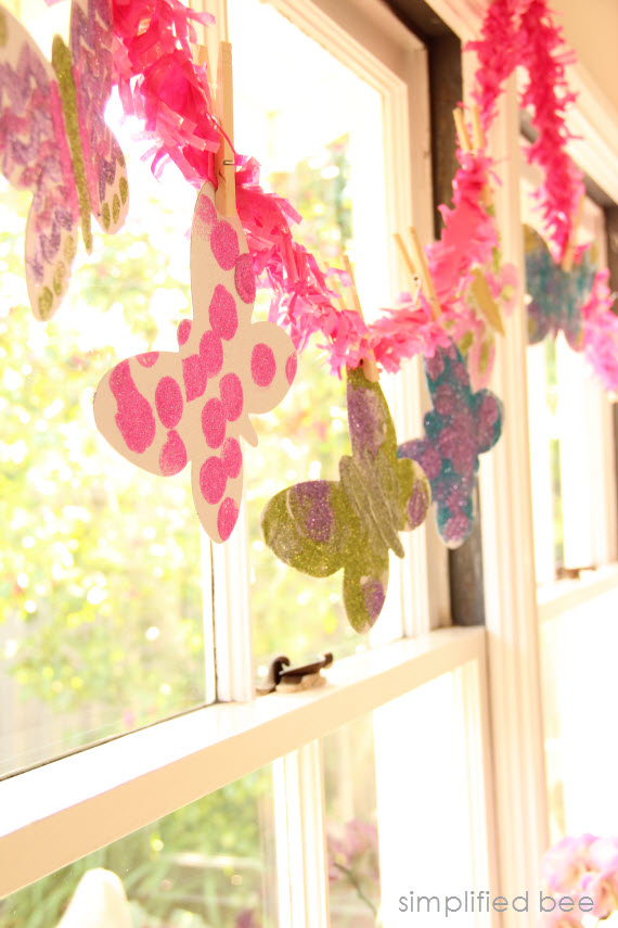 butterfly garland diy
