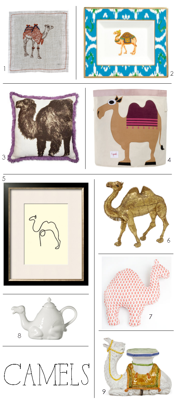 camels in home decor