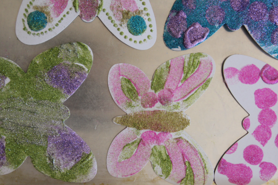 diy butterfly garland craft