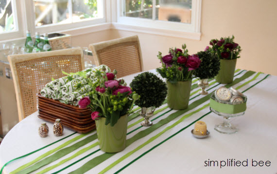 green+white bridal shower ideas
