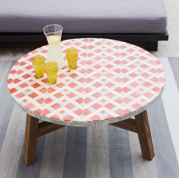 mosaic tiled coffiee table