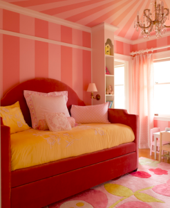 pink daybed girls bedroom