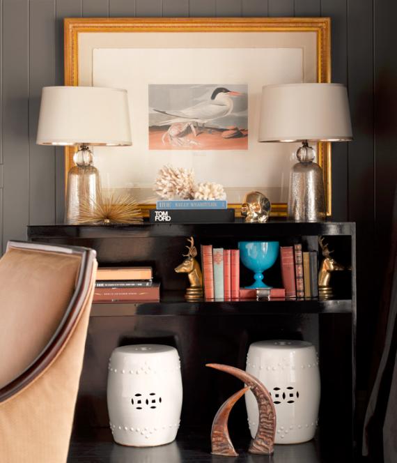 styled designer bookcase