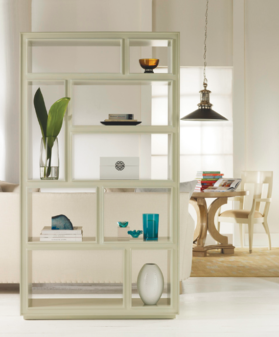 white chic bookcase