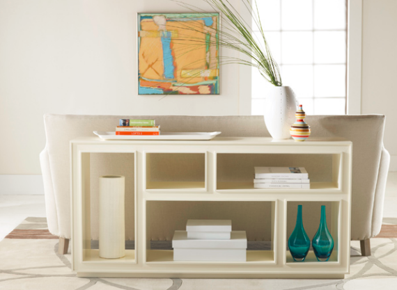 white chic horizontal bookcase