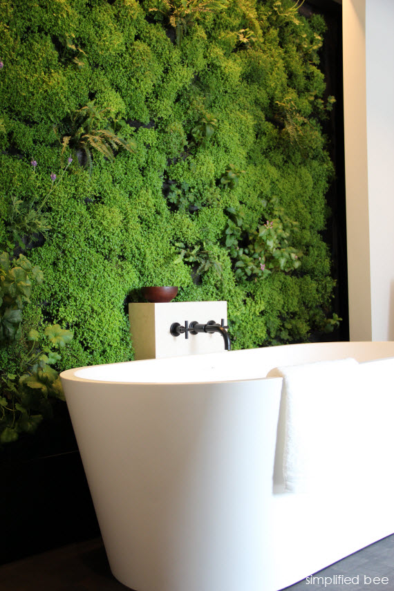 SF Decorator Showcase Bath with live plant wall