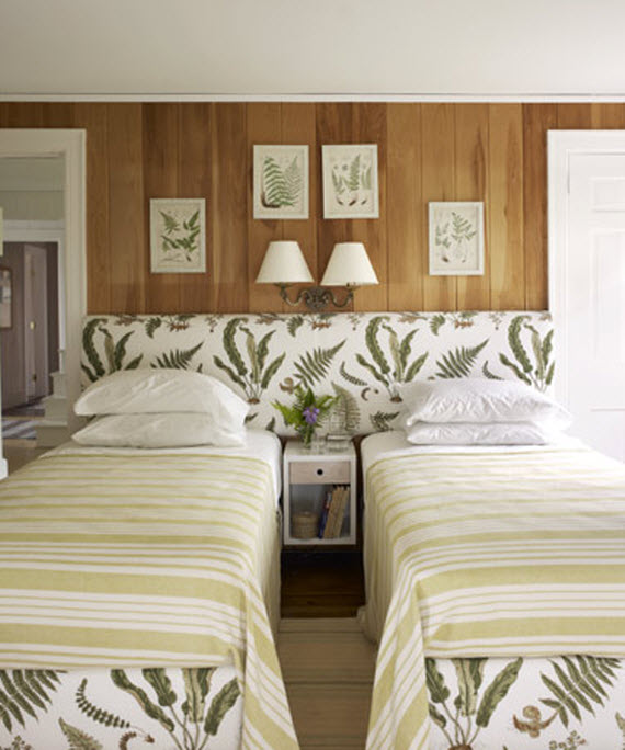 bedroom by Tom Sheerer with fern fabric
