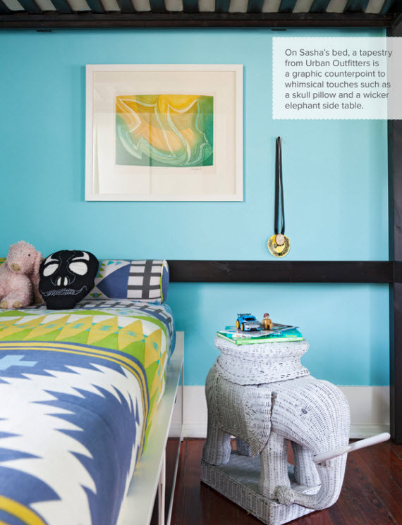 blue child's bedroom design