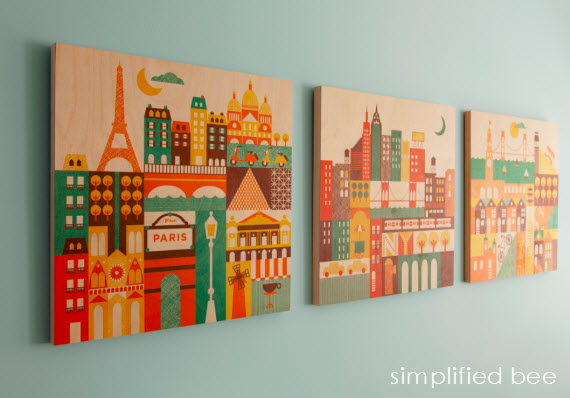 boys bedroom art cityscapes // Simplified Bee