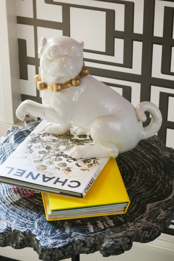 ceramic pug decor accessory // San Francisco Decorator Showcase - The Dressing Room