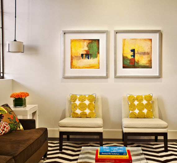 colorful living space by Traci Zeller Designs