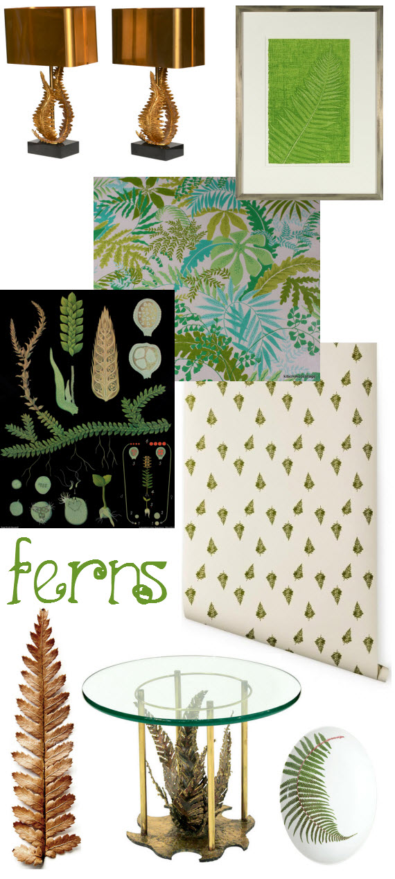 fern pattern in interior design