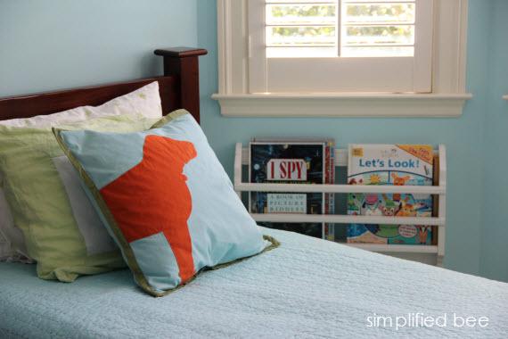 kids bedside book holder rack
