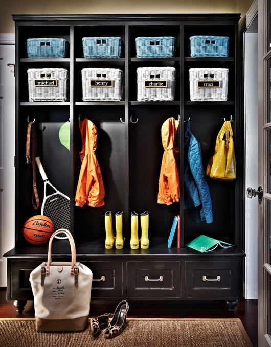 mudroom design by Traci Zeller