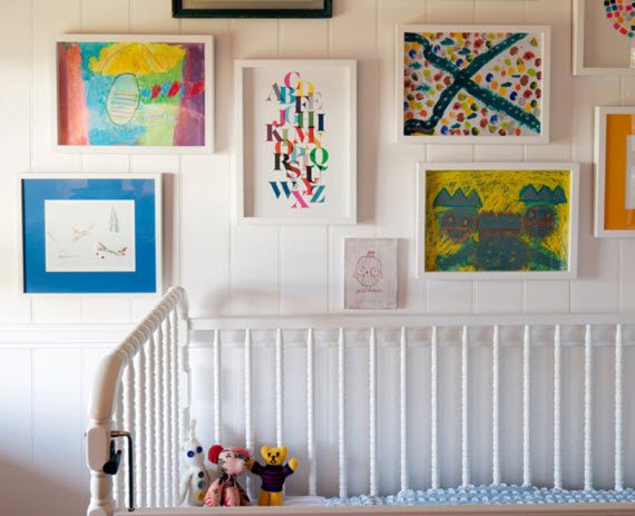nursery room art gallery wall