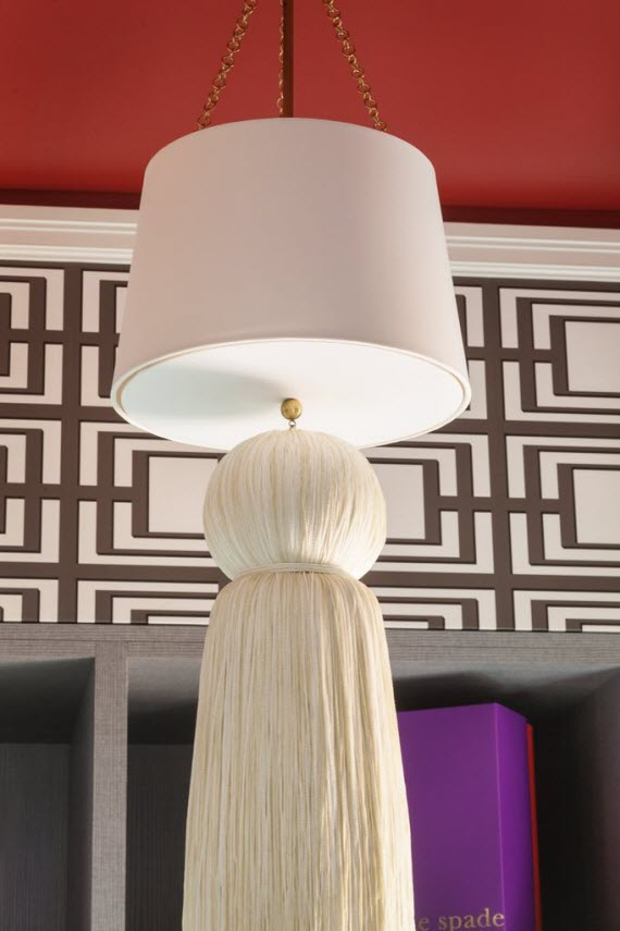 pendant light with tassel // San Francisco Decorator Showcase - The Dressing Room by Shelley & Co.