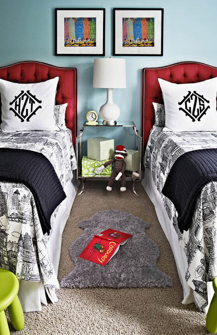 Red Bedroom For Boys red white blue boys bedroom - simplified bee