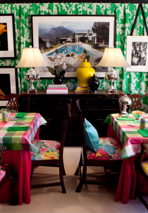 Lilly Pulitzer Card Room - by SMW Design