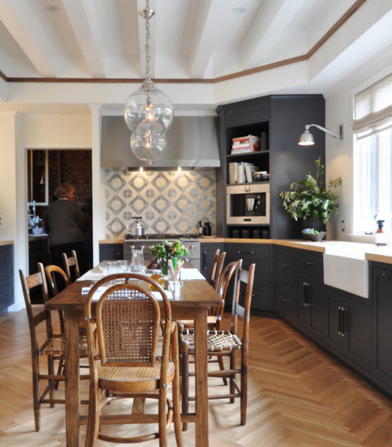 Family Friendly Kitchen Houzz Afreakatheart