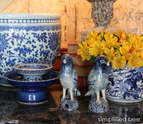 blue and white Asian ceramics