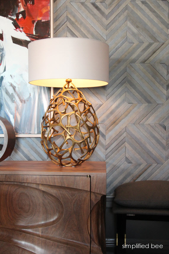 brass table lamp - San Francisco Decorator Showcase - Jeffers Design Group