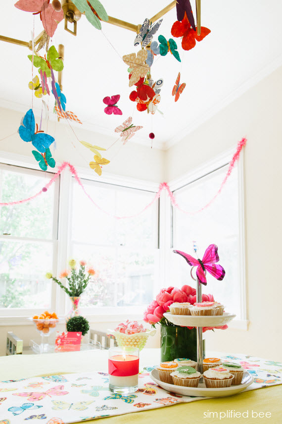 butterfly fiesta party ideas // simplified bee