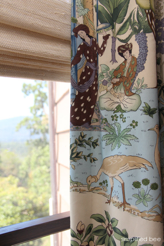 chinoiserie fabric - window treatment