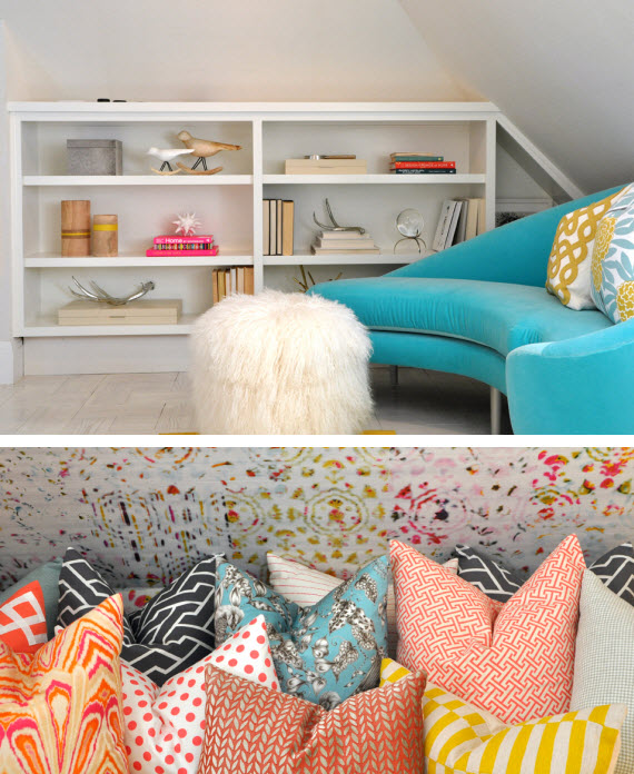 colorful+chic home office by Kriste Michelini Interiors
