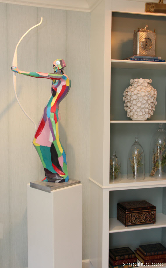 colorful archer sculpture - art