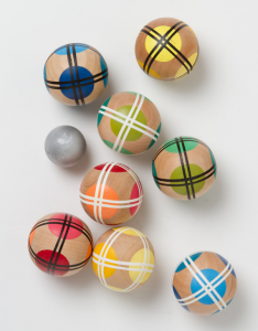 colorful bocce ball set - lawn games