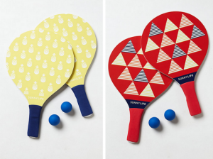 colorful paddleball set - lawn games