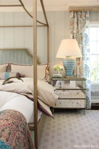 designer bedroom with canopy bed by House of Ruby