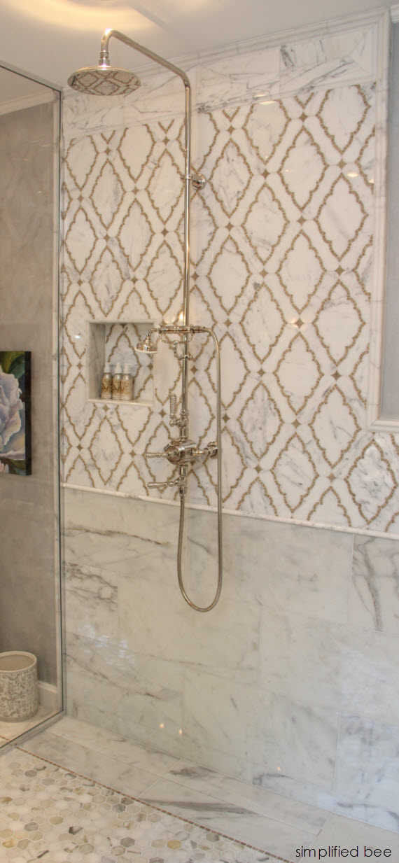 Marble Mosaic Shower Woodside Decorator Show House