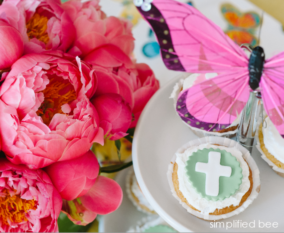 peonies and cupcakes - fiesta party ideas