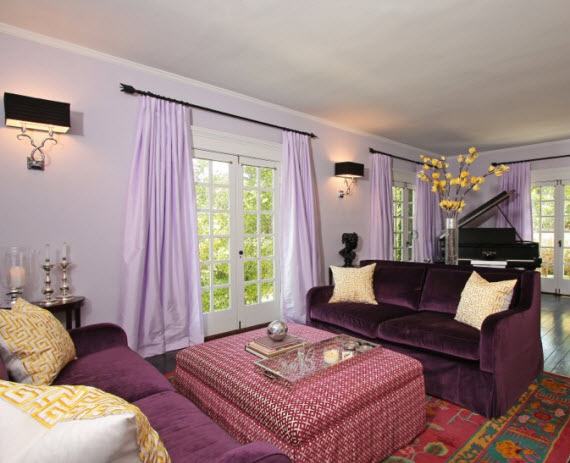 purple living room - Michelle Workman Interiors