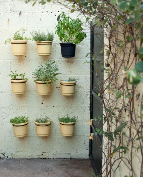 vertical veggie and herb garden idea