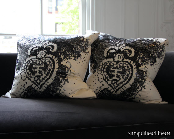 black sequin pillows - San Francisco Decorator Showcase