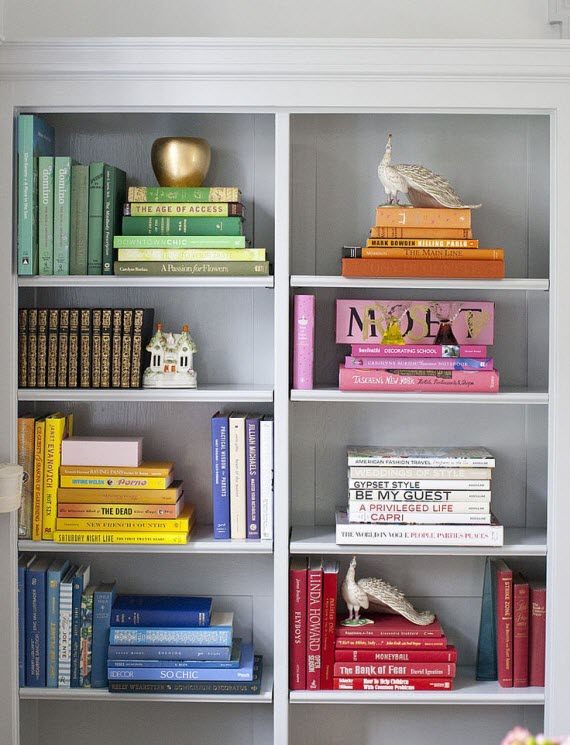bookshelf - styled by color