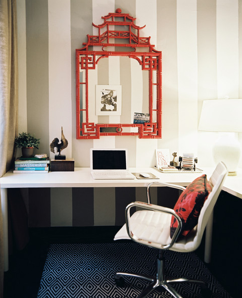 chinoiserie office - Lonny