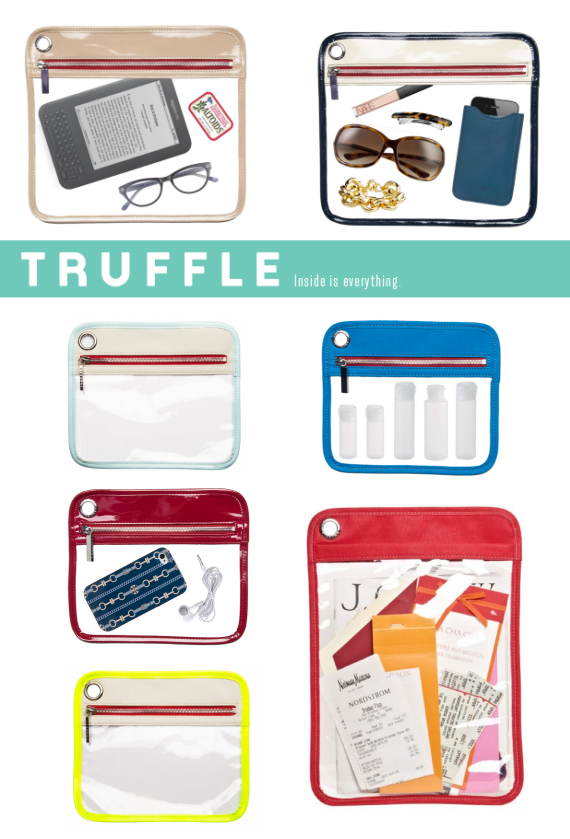 stylish see-through pouch for handbags - organized living