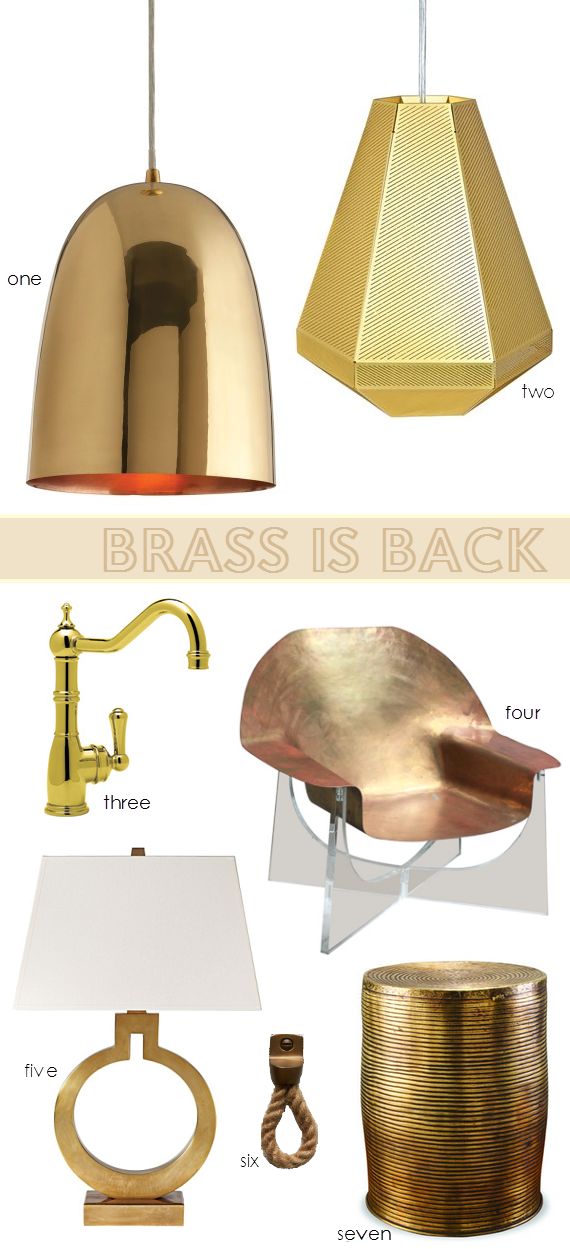 Brass - Interior Design Trend