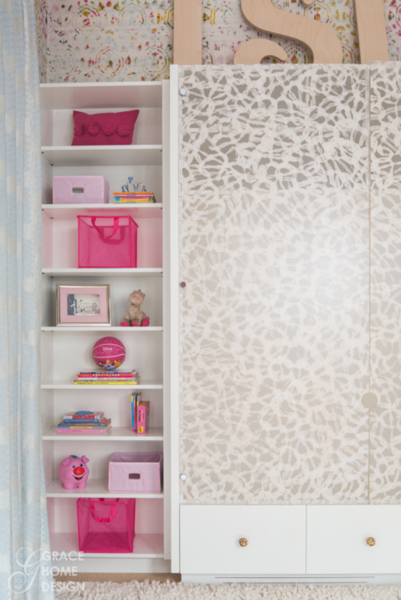 Designer Girls Bedroom - Custom Cabinetry