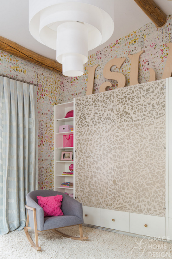 Designer Girls Bedroom - Elitis Kandy Wallpaper