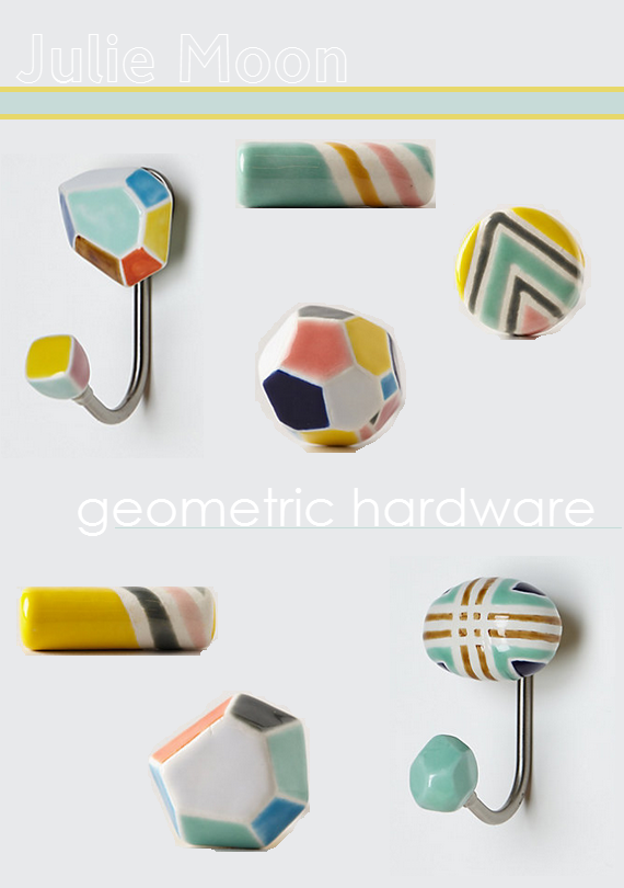 Geometric Porcelain Hardware - Julie Moon