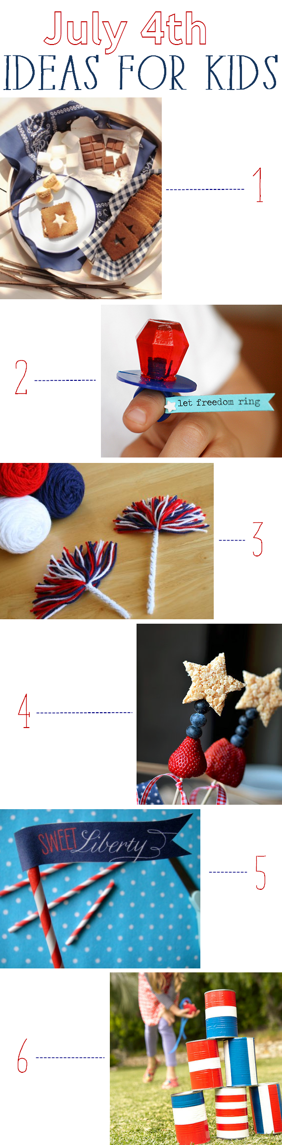 July 4th ideas for kids - simplifiedbee.com
